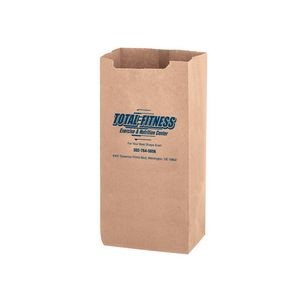 Natural Kraft Heavyweight Paper Nail and Coin Bag (Size 8 Lb.) - Flexo Ink