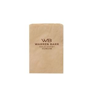 "Natural Kraft Paper Merchandise Bag (6 1/2""x9 1/4"") - Flexo Ink"