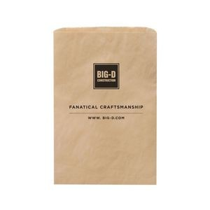 "Natural Kraft Paper Merchandise Bag (12""x2 3/4""x18"") - Flexo Ink"