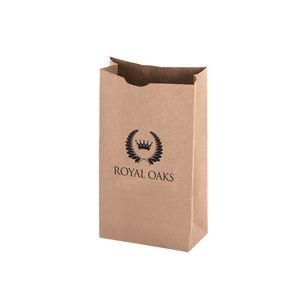 Natural Kraft Heavyweight Paper Nail and Coin Bag (Size 6 Lb.) - Flexo Ink