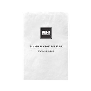 "White Kraft Paper Merchandise Bag (12""x2 3/4""x18"") - Flexo Ink"