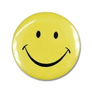 "2¼"" Stock Celluloid ""Smiley Face"" Button"