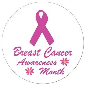 "1½"" Stock Celluloid ""Breast Cancer Awareness Month"" Button"