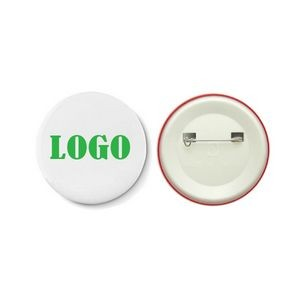 Pin Button Badge With Plastic Back
