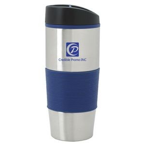 16 Oz Color Grip Double Wall Stainless Steel Tumbler