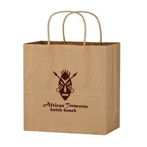 "Kraft Paper Brown Shopping Bag - 13"" x 13"""