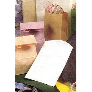 "Flat Pinch Bottom Colored Paper Merchandise Bags (6 1/4""x9 1/4"")"