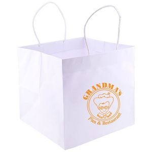 "Wide Gusset Takeout Bag (10.25""x10""x10"")"