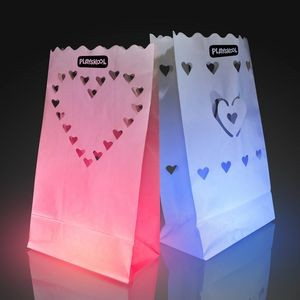 Luminary Bags With Heart Designs
