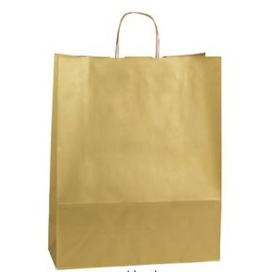 Gold Rush Jaguar Precious Metal on Natural Kraft Paper Shopping Bag