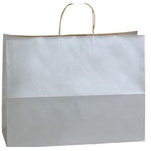 Hi Ho Silver Zebra Precious Metal on Natural Kraft Paper Shopping Bag