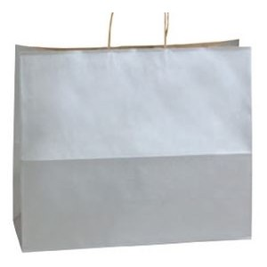 "Jaguar Bright White Gloss Paper Shopping Bag (16""x6""x13"")"